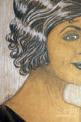 African-american Drawing - Thinking Of You by Cheryl Rose