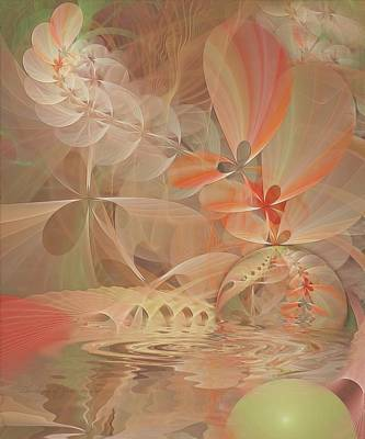 Thinking Of You Art Print by Gayle Odsather