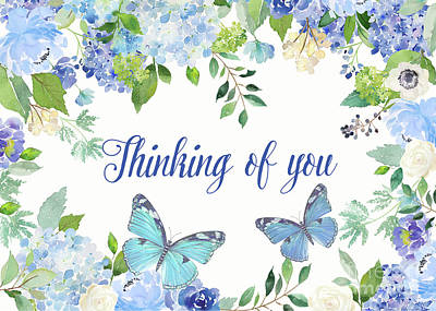 Painting - Thinking Of You Greeting Card by Jean Plout