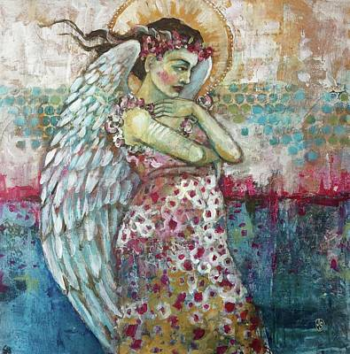 Spiritual Painting - Thinking Of You by Jane Spakowsky