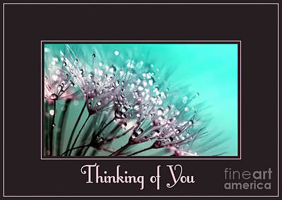 Dandelion Digital Art - Thinking Of You Painted Danelions by JH Designs