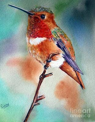 Hummingbird Painting - Thinking Of You by Patricia Pushaw
