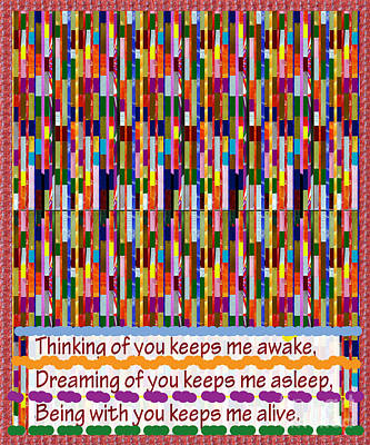 Venice Beach Bungalow - Thinking of you Romantic Text on FineArt Abstract Pattern by NavinJoshi at FineArtAmerica.com gifts by Navin Joshi