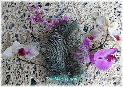 Photograph - Thinking Of You With Orchids by Barbie Corbett-Newmin