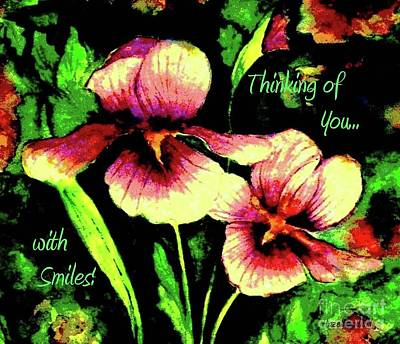 Painting - Thinking Of You With Smiles by Hazel Holland