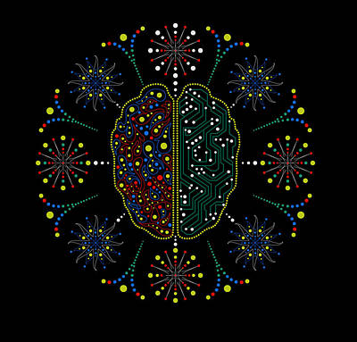 Left Hemisphere Digital Art - Thinking Patterns by Mark Golding