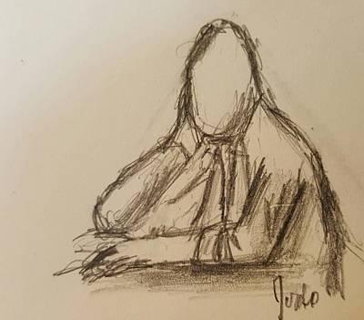 Drawing - Thinking  by Steve Jorde