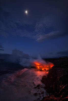 Volcano Photograph - Thinking Thin by Miles Morgan