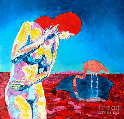 Art Print featuring the painting Thinking Woman by Ana Maria Edulescu