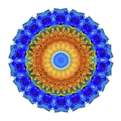 Third Eye Mandala Art By Sharon Cummings Art Print by Sharon Cummings