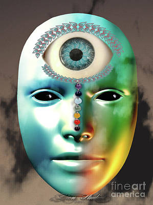 Fractal Digital Art - Third Eye by Melissa Messick