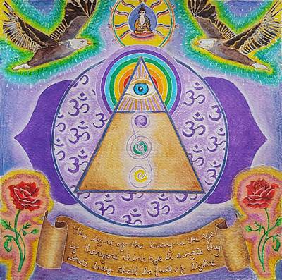 Watercolor Painting - Third Eye by Nicole Marinette
