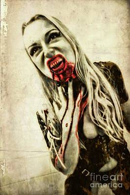 Horror Digital Art - Thirst For Blood By Mb by Mary Bassett