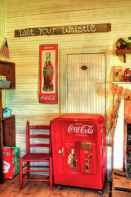 Photograph - Thirst-quencher Old Coke Machine by Reid Callaway