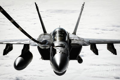 F-18 Digital Art - Thirsty Hornet by J Biggadike