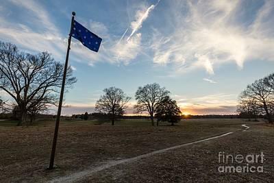 Thirteen Stars At Yorktown Battlefield Art Print by Rachel Morrison