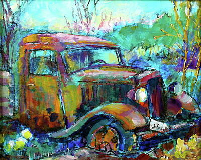 Painting - Thirty-four Ford by Les Leffingwell