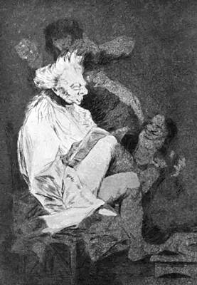 Painting - This Certainly Is Reading 1799 by Goya Francisco
