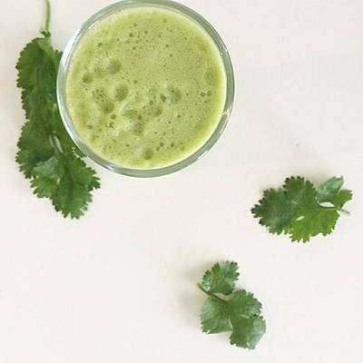 Music Photograph - This Cilantro-green Apple Mocktail Is by E M I L Y  B U R T O N