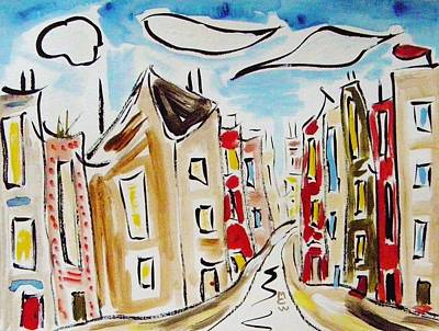 Painting - This City Made In Usa by Mary Carol Williams