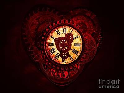 This Clockwork Heart Of Mine Art Print by Putterhug  Studio