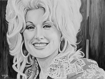 Painting - This Dumb Blonde Ain't Nobody's Fool - Dolly Parton by Maria Modopoulos