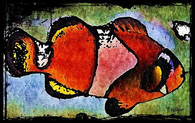 Clown Fish Digital Art - This Fish Is A Real Clown by Terry Mulligan