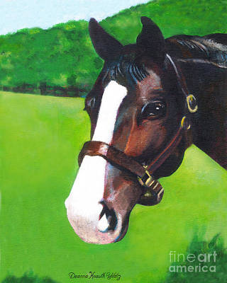 Painting - This Horse Checks You Out by Deanna Yildiz