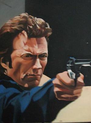 Dirty Harry Painting - This Is A .44 Magnum by William Parsons
