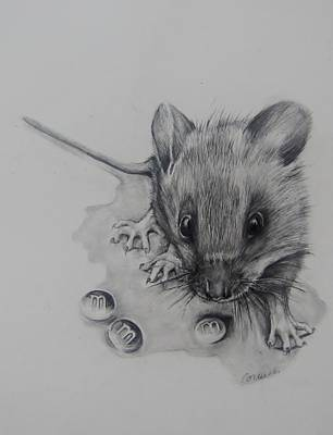 Hamster Drawing - This Is A Great Find  by Jean Cormier