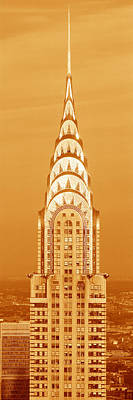 Chrysler Building At Sunset Art Print by Panoramic Images