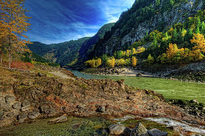 This Is British Columbia No.47 - Where Two Rivers Join Original by Paul W Sharpe Aka Wizard of Wonders