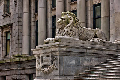 This Is British Columbia No.48 - Vancouver Art Gallery Lion Original by Paul W Sharpe Aka Wizard of Wonders
