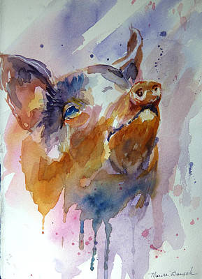 Piggies Painting - This Is Called Attitude by P Maure Bausch