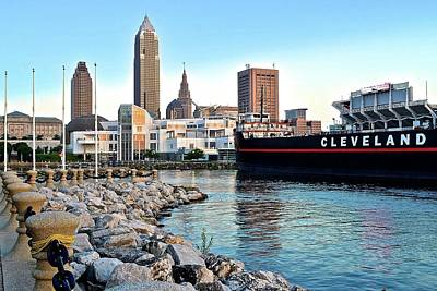 Lake Erie Photograph - This Is Cleveland by Frozen in Time Fine Art Photography