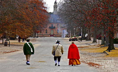 This Is Colonial Williamsburg Art Print by E Robert Dee