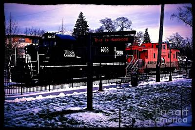 Old Caboose Photograph - This Is Homewood by Frank J Casella