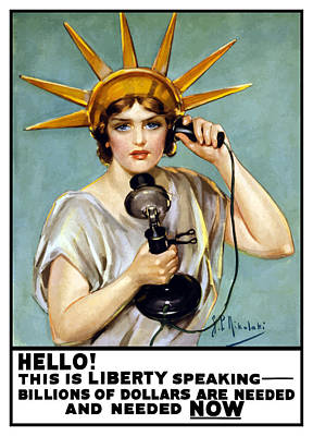 This Is Liberty Speaking - Ww1 Art Print by War Is Hell Store