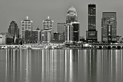 Photograph - This Is Louisville In Black And White by Frozen in Time Fine Art Photography