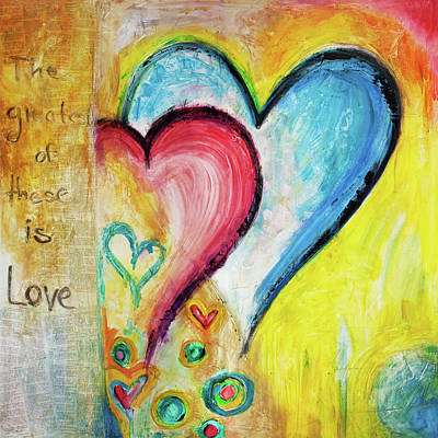 Christian Artwork Painting - This Is Love by Ivan Guaderrama