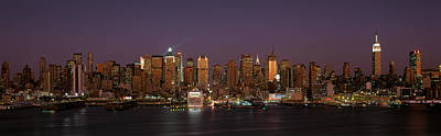 Eve Photograph - This Is Midtown Manhattan And The East by Panoramic Images