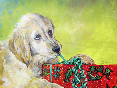 Art Print featuring the painting This Is Mine? Right? by Donna Tucker