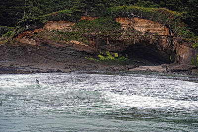 This Is Oregon State No.13 - Surfing At Boiler Bay Original by Paul W Sharpe Aka Wizard of Wonders