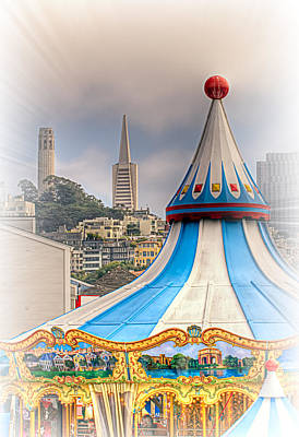 Tourist Attraction Digital Art - This Is San Francisco 1f  Four Towers by Paul W Sharpe Aka Wizard of Wonders