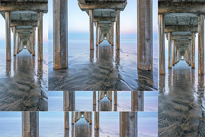Photograph - This Is Scripps Pier Collage by Joseph S Giacalone