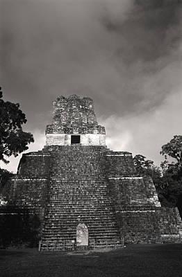 Tikal Photograph - This Is Temple 2 At Tikal by Stephen Alvarez