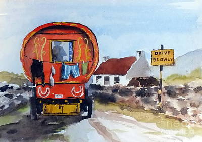 Painting - F 808  Whats Your Hurry  by Val Byrne