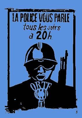 This Is The Police Speaking Art Print by Otis Porritt