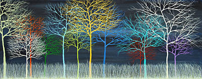 Painting - This Is Your Brain On Trees by Andrea Youngman