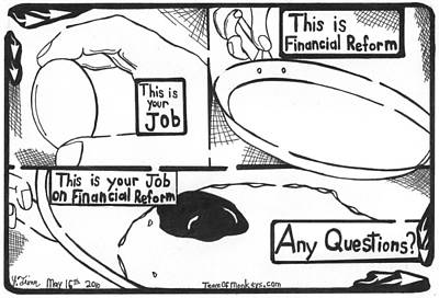 This Is Your Financial Reform Maze Cartoon By Yonatan Frimer Original by Yonatan Frimer Maze Artist